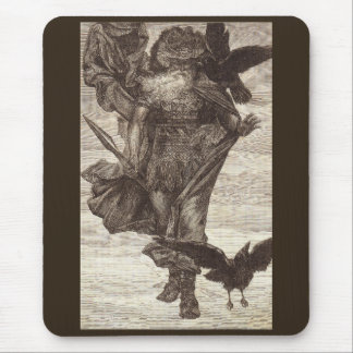 1871 Odin, Norse God of War Mouse Pad