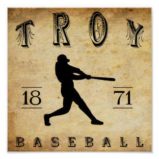 1871 Troy New York Baseball Posters