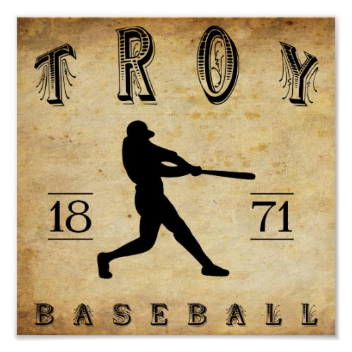 1871 Troy New York Baseball Posters