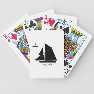 1873 Barge - tony fernandes Bicycle Playing Cards