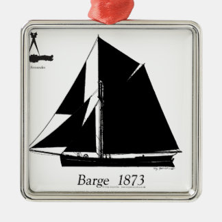 1873 Barge - tony fernandes Metal Ornament