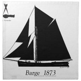 1873 Barge - tony fernandes Napkin