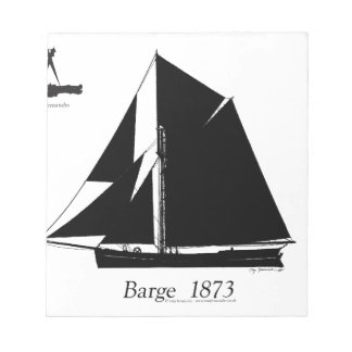 1873 Barge - tony fernandes Notepad