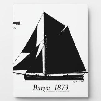 1873 Barge - tony fernandes Plaque