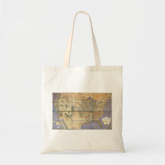 1873 Map of the United States and Territories Canvas Bags