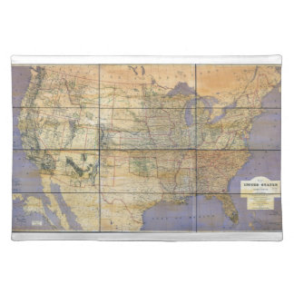 1873 Map of the United States and Territories Placemat
