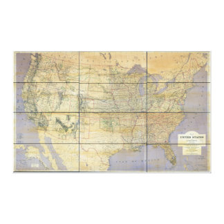 1873 Map of the United States of America Canvas Prints