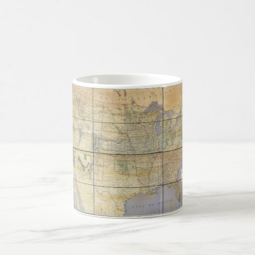 1873 Map of the United States of America Coffee Mugs