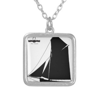 1873 Medway Peterboat - tony fernandes Silver Plated Necklace