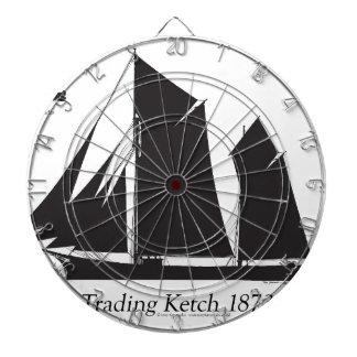 1873 trading ketch - tony fernandes dartboard