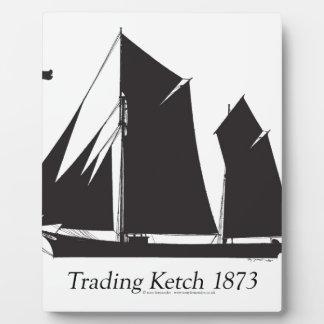 1873 trading ketch - tony fernandes plaque