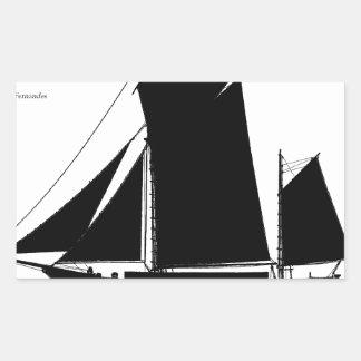 1873 trow - tony fernandes rectangular sticker