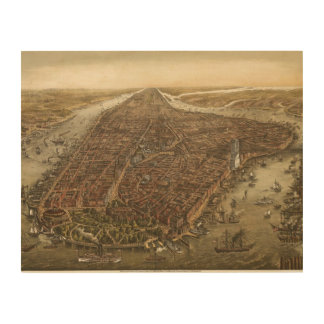 1874 Manhattan Wood Wall Art
