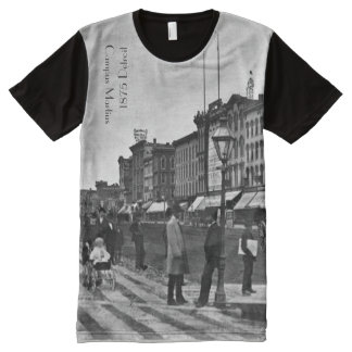 1875 Campus Martius on Woodward in Detroit All-Over Print T-Shirt