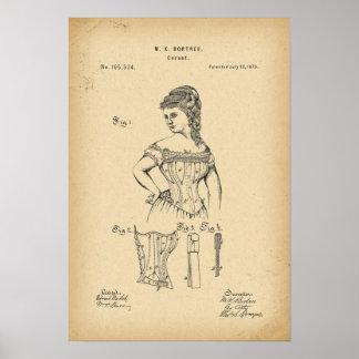 1875 Patent Corset Poster