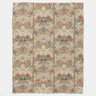 1875 Vintage William Morris Floral Embroidery Fleece Blanket