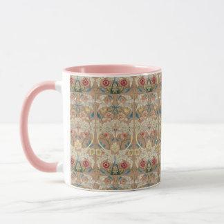 1875 Vintage William Morris Floral Embroidery Mug