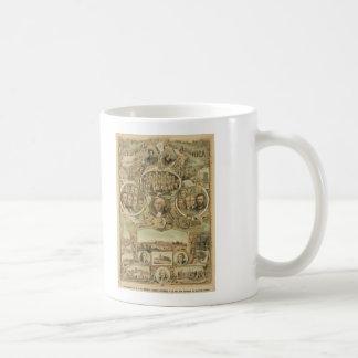 1876 Centennial America United States Independence Basic White Mug