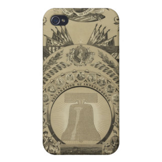 1876 Reproduction The Declaration of Independence iPhone 4 Cases