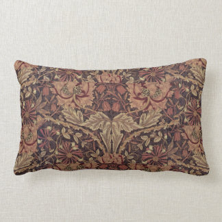 1876 Vintage William Morris Honeysuckle Lumbar Cushion