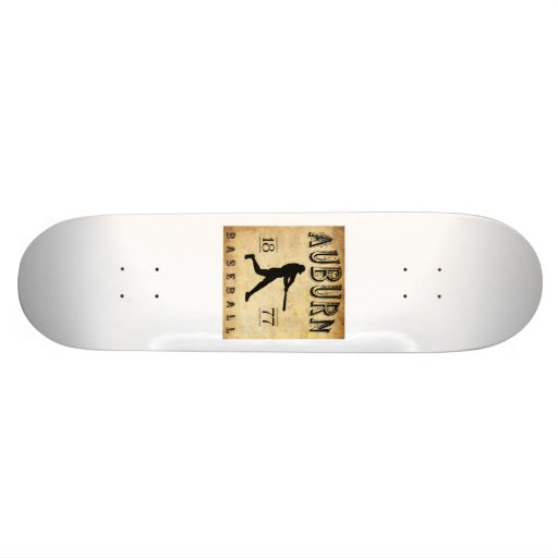 1877 Auburn New York Baseball Skate Board Decks