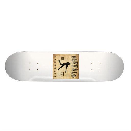 1877 Buffalo New York Baseball Skateboard Deck