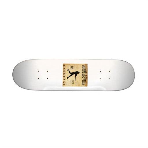 1877 Hornellsville New York Baseball Skate Board Decks