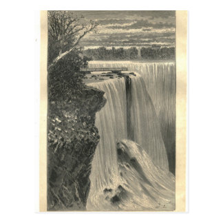 1877 Print Niagra Falls, Earth and its Peoples Postcard
