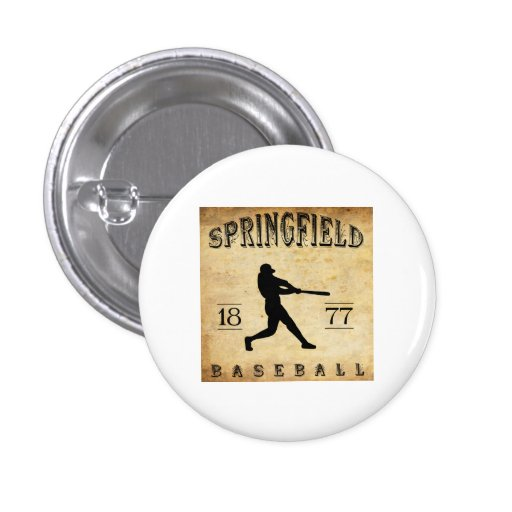 1877 Springfield Ohio Baseball Pinback Button