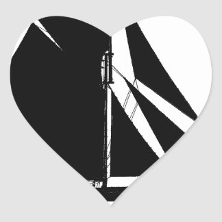 1878 Colchester Smack - tony fernandes Heart Sticker