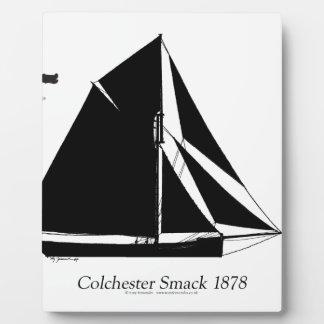 1878 Colchester Smack - tony fernandes Plaque