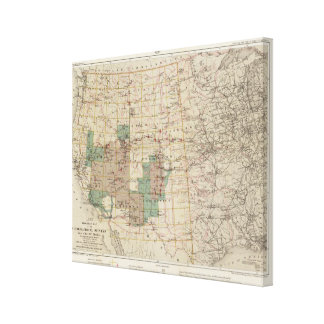 1878 Progress Map of The US Geographical Surveys 2 Gallery Wrapped Canvas