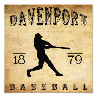 1879 Davenport Iowa Baseball Photo