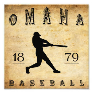 1879 Omaha Nebraska Baseball Photo Print