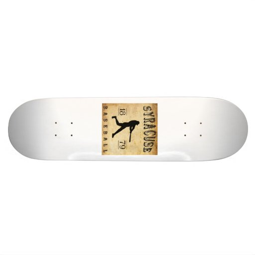 1879 Syracuse New York Baseball Skate Board