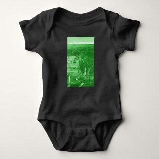1879 Vintage Brooklyn Map Baby Bodysuit in Green