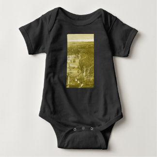 1879 Vintage Brooklyn Map Baby Bodysuit in Yellow