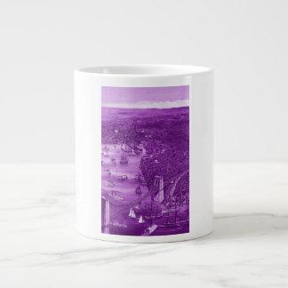 1879 Vintage Brooklyn Map Mug in Purple