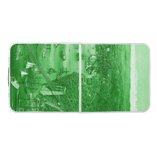 1879 Vintage Brooklyn Map Pong Table in Green