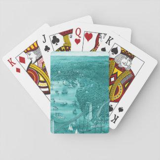 1879 Vintage Brooklyn Playing Cards in Aqua