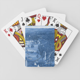 1879 Vintage Brooklyn Playing Cards in Blue