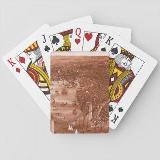 1879 Vintage Brooklyn Playing Cards in Orange