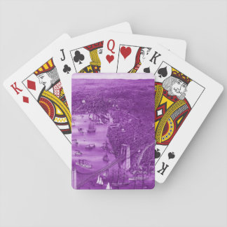 1879 Vintage Brooklyn Playing Cards in Purple
