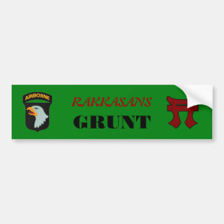 187TH INFANTRY RAKKASANS GRUNT BUMPER STICKER