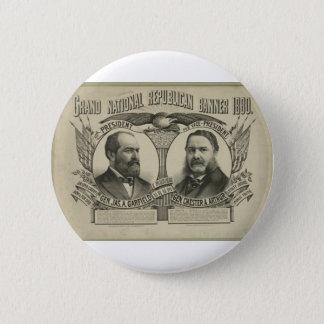 1880 Garfield - Arthur 6 Cm Round Badge