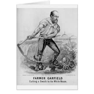 1880 Garfield Greeting Card