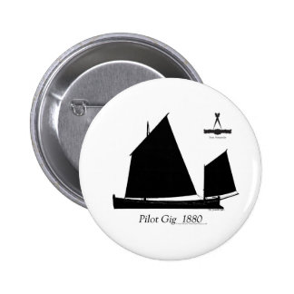 1880 Pilot Gig - tony fernandes 6 Cm Round Badge
