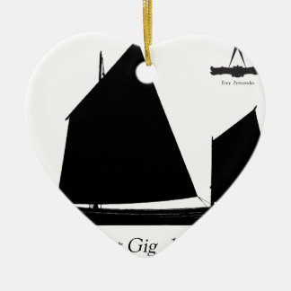 1880 Pilot Gig - tony fernandes Ceramic Ornament