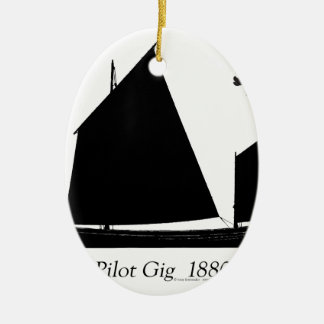 1880 Pilot Gig - tony fernandes Ceramic Ornament