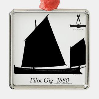 1880 Pilot Gig - tony fernandes Metal Ornament